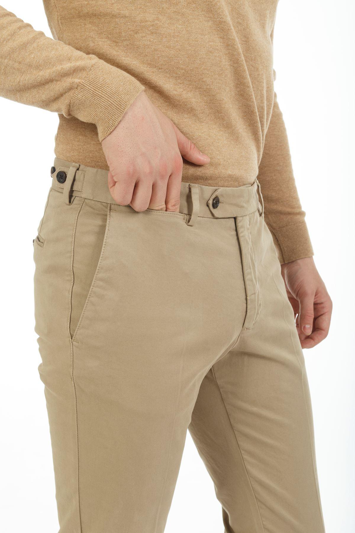 Camel Dar Paça Slim Chino Pantolon