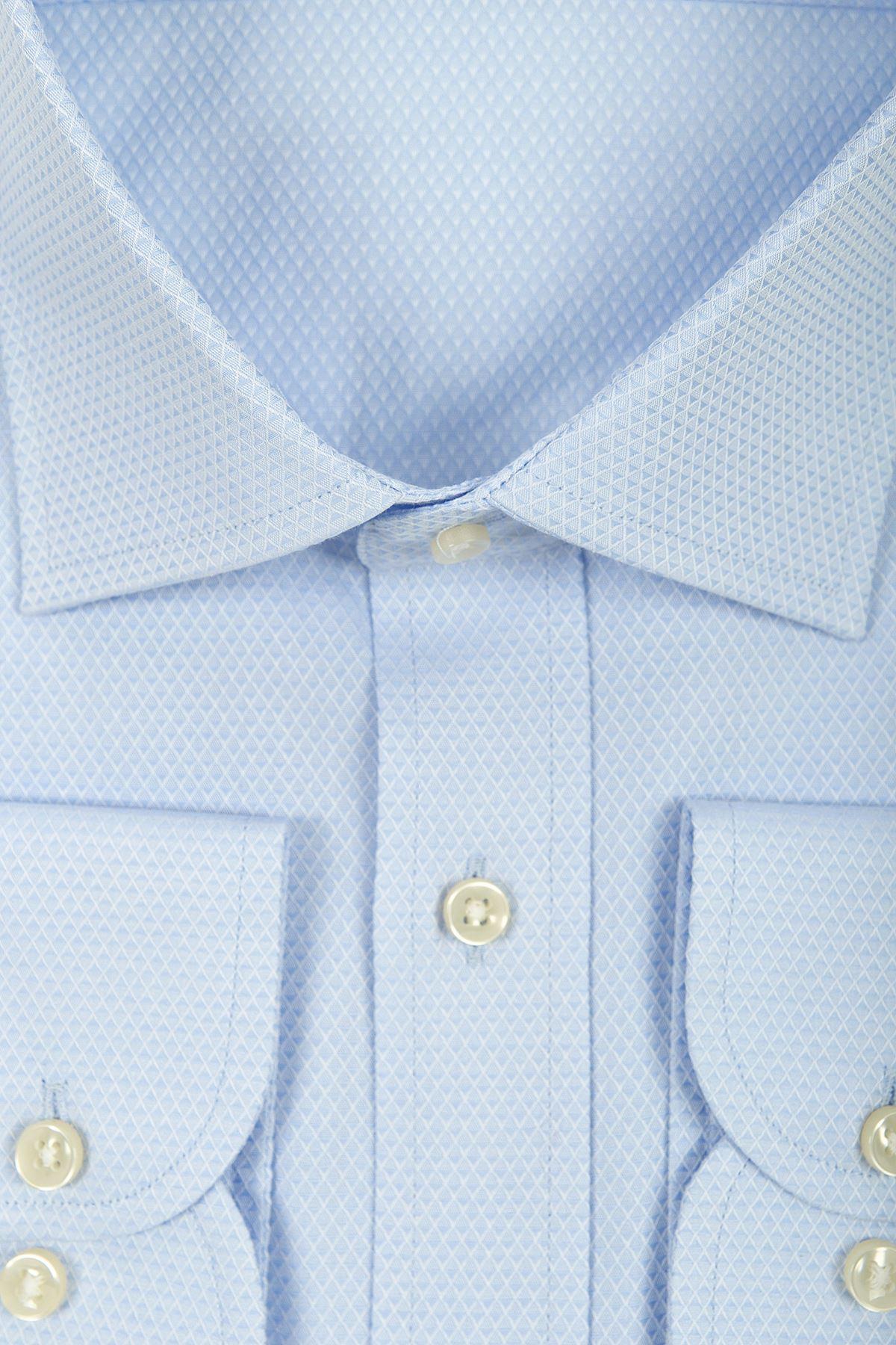 Mavi Desenli Regular Gömlek