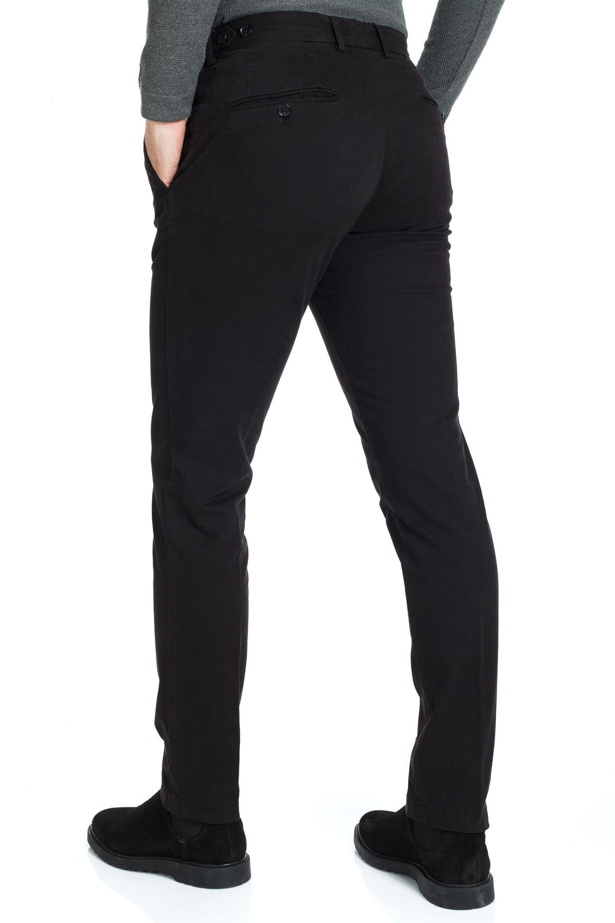Siyah Dar Paça Slim Chino Pantolon